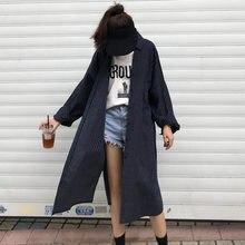 db89e8c3343b  EWQ 2019 rayas suelto giro-abajo Collar de las mujeres de la moda Camiseta  larga sección de la personalidad de la Blusa de mang.