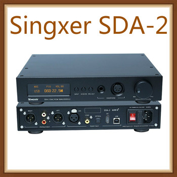 Singxer SDA-2 DAC NOS Native decoding DSD512, AK4497 Decoder Headphone Amplifier AMP DSD DAC
