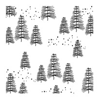 Tree background Transparent Clear Silicone Stamp/Seal for DIY scrapbooking/photo album Decorative clear stamp