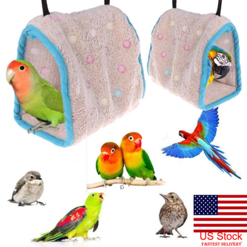 Bird Cages & Nests Bird Supplies Bird Parrot Hanging Hammock Comfortable Parakeet Budgie Mesh Bed Cave Cage Hut Tent Pet Toys Birds Mesh Hammock Multi-size