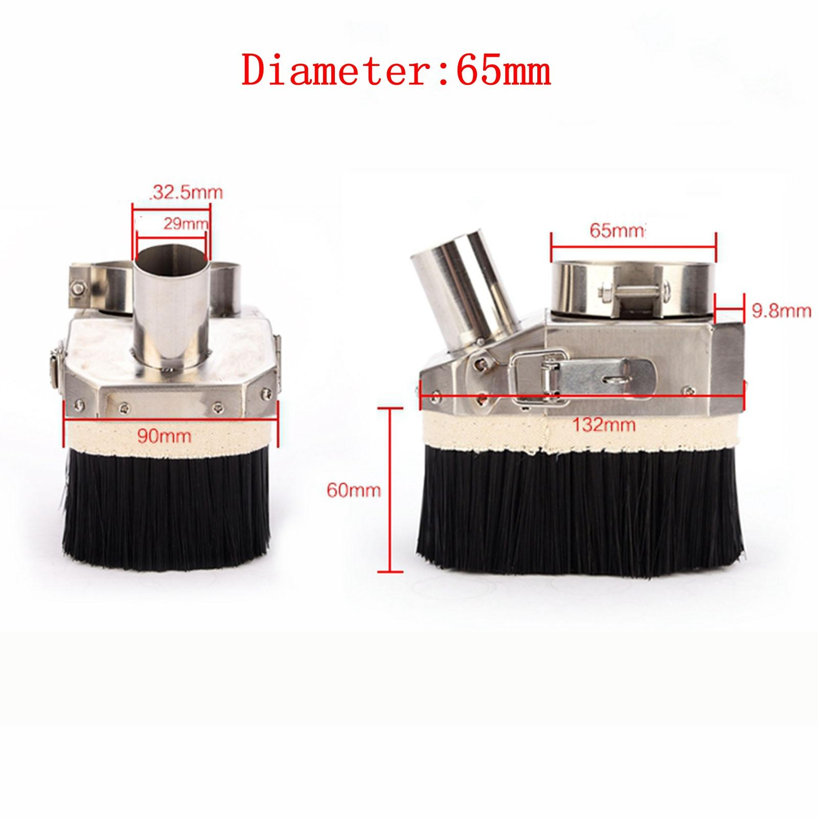 65mm Diameter Stainless Steel Spindle Dust Cover CNC Engraving Woodworking Machine Open Door Type For 800W CNC Spindle