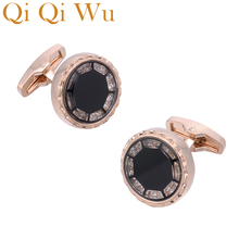 2018 Jewelry French shirt  Fathers Day gift present cufflinks for mens crystal high quality luxury brand