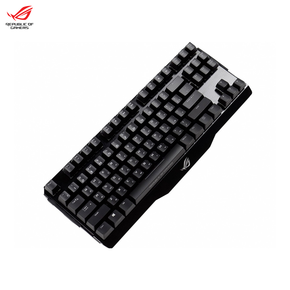 Computer gaming mechanical RGB backlit keyboard ASUS ROG CLAYMORE CORE (cherry mx brown|black) клавиатура проводная asus rog claymore core brown switches usb черный 90mp00i1 bora00