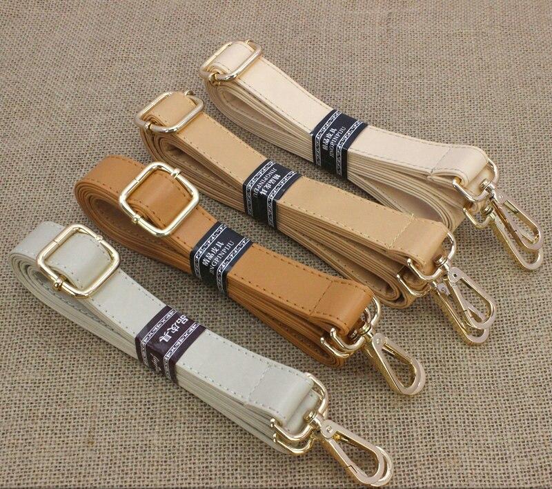Width S1.2/M1.5/L2cm Handle Bag Belt Buckle Beige White Cream Shoulder Crossbody Bags Strap DIY Accessory Adjustable 78~135CM