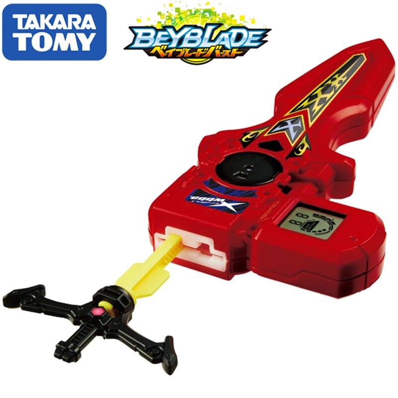 Original TOMY Beyblade explosión lanzador B-94 DIGITAL espada lanzador rojo doble rotación bey blade regalo de Navidad juguete para los niños