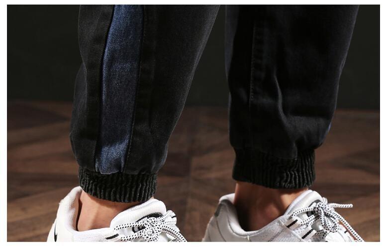 #2013 Autumn Winter Pencil Harem Denim Jeans Plus Size Biker Jeans Black Loose Vintage Japanese Streetwear Fashion Full Length 5