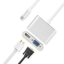 HUWEI USB C Adapter konverter HDMI VGA USB C Kabel Für Huawei Mate 10/20/P20 Pro Ehre hinweis 10 fall Verbinden projektor TV Dock
