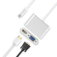 Адаптер HUWEI USB C, конвертер в HDMI, VGA, кабель для Huawei Mate 10/20/P20 Pro, Honor note 10, чехол для подключения проектора, ТВ док