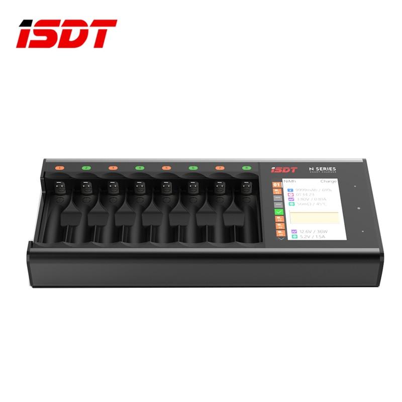 ในสต็อก ISDT N8 18 W 1.5A 8 ช่อง LCD AA/AAA Quick Charger สำหรับ Lihv Life NiMh nicd Nizn รุ่น RC Part Accs-ใน ชิ้นส่วนและอุปกรณ์เสริม จาก ของเล่นและงานอดิเรก บน   1