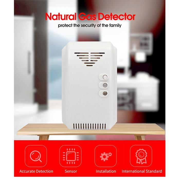 Fire Protection Enthusiastic Natural Gas Detector Alarm Natural Gas Leak Detector Combustible Gas Detector For Home Alarm System 110-220v Eu/us Plug