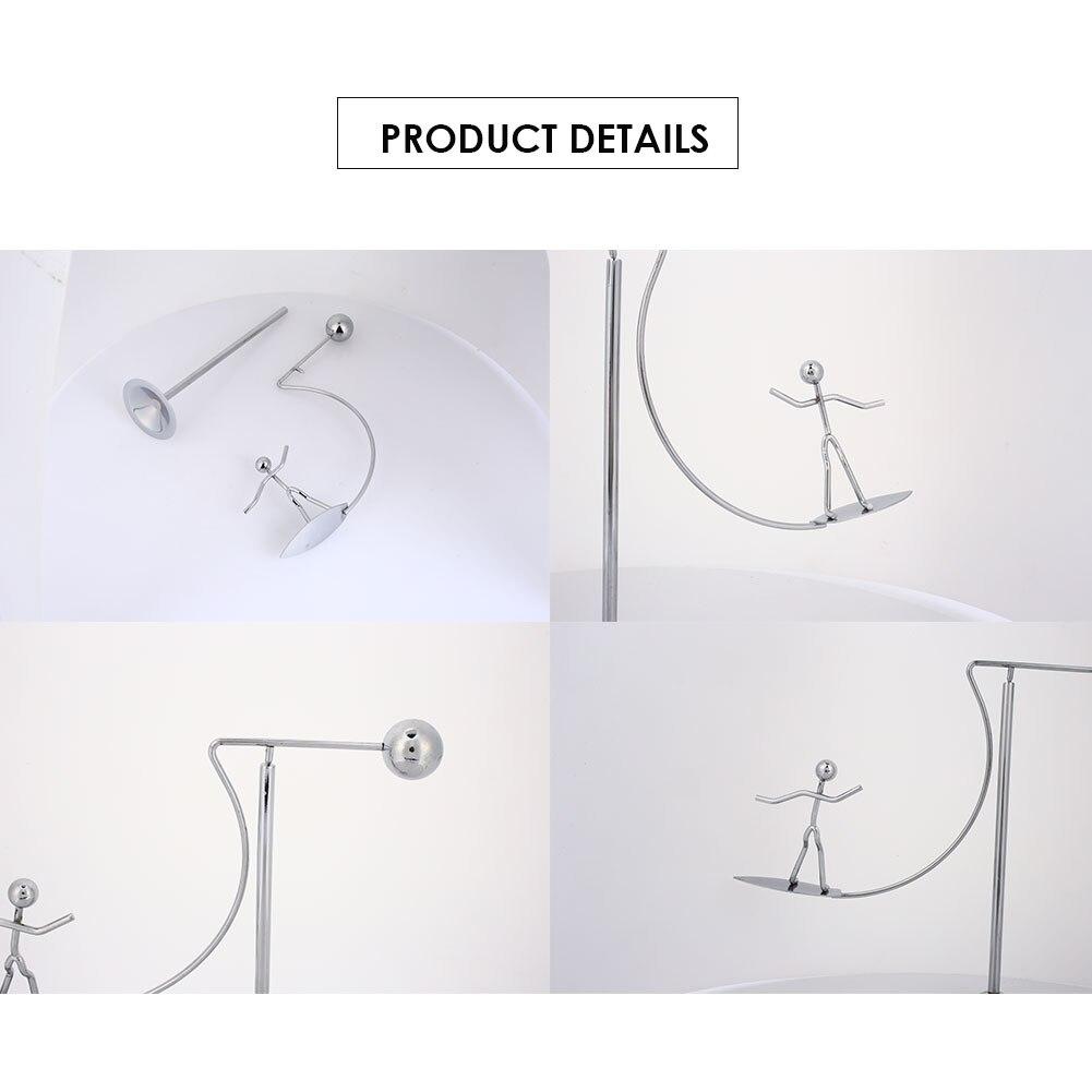Металлическая игрушка Серфер украшения Милая креативная игрушка домашний стол Декор