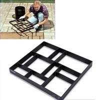 WINOMO 40*40cm Plastic DIY Path Maker Mold Manually Paving Cement Brick Molds for Garden Decor