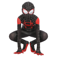 Kids Spiderman Costume New Spider-Man Into The Spider-Verse Miles Morales Cosplay Zentai Suit Halloween For