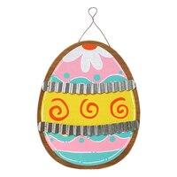 Easter Hanging Ornament Easter Egg Shape Door Hanging Sign Party Hanging Decor for Easter Decor