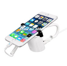 10 X Hot cell mobile phone store security anti-theft display alarm alert stand holder shelf with charger alarm stand with clamp(China)