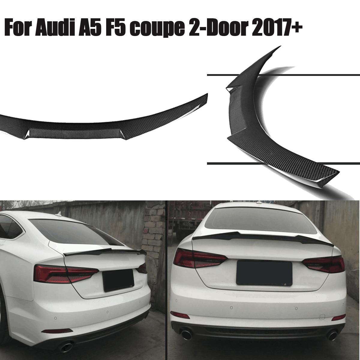 Pour Audi A5 F5 Sportback 4 portes M4 2017 2018 véritable matériau en Fiber de carbone coffre arrière aileron de coffre couvercle de coffre