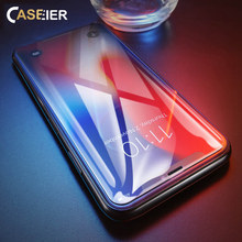 CASEIER HD Tempered Glass For iPhone X XR XS Max Screen Protector Film 7 8 6 6S Plus 5S 5 SE 5C Protective