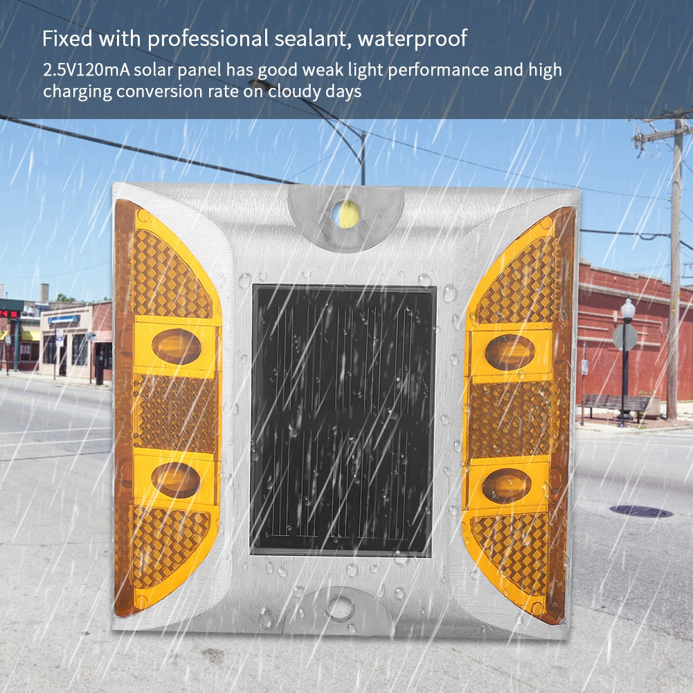 1000m Casting Aluminum Road Stud Light Outdoor Solar Powered Lamp For Pathway Road
