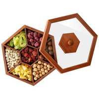 Wooden Box Candy Box Dried Fruit Snacks Desktop Box Solid Wood Sugar Wedding Gift Box