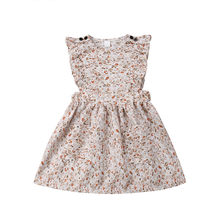 2-8T Toddler Kids Baby Girl Flower Dress Elegant Boho Beach Summer Ruffles Floral Dress Cute Princess Pockets Sundress(China)