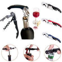 2019 Newest Stainless Steel Waiters Corkscrew Wine Beer Bottle Cap Key Opener Cutter Tool Kitchen multifunction opener Tools(China)