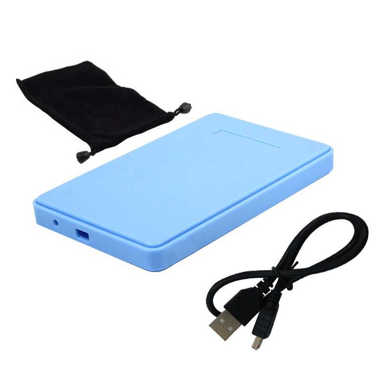 """2.5 """"USB 2.0 SATA HD صندوق 1 تيرا بايت HDD القرص الصلب الخارجية الضميمة دعم ما يصل إلى 2 تيرا بايت نقل البيانات أداة احتياطية لأجهزة الكمبيوتر المحمول"""