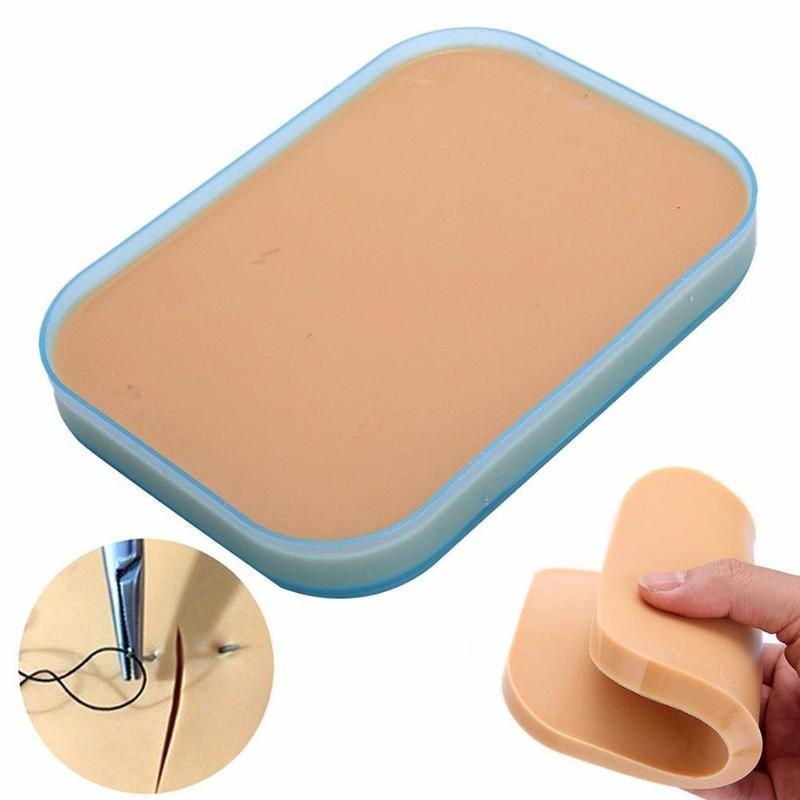 Pele humana modelo médico incisão cirúrgica silicone sutura treinamento almofada prática modelo de pele humana