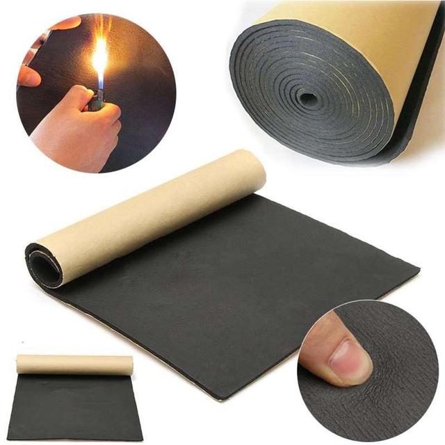 30 x 50cm Auto Adhesive Cotton Insulation Thick Soundproof Rubber Absorbing Car Noise Insulation Foam Board Interior Accessories
