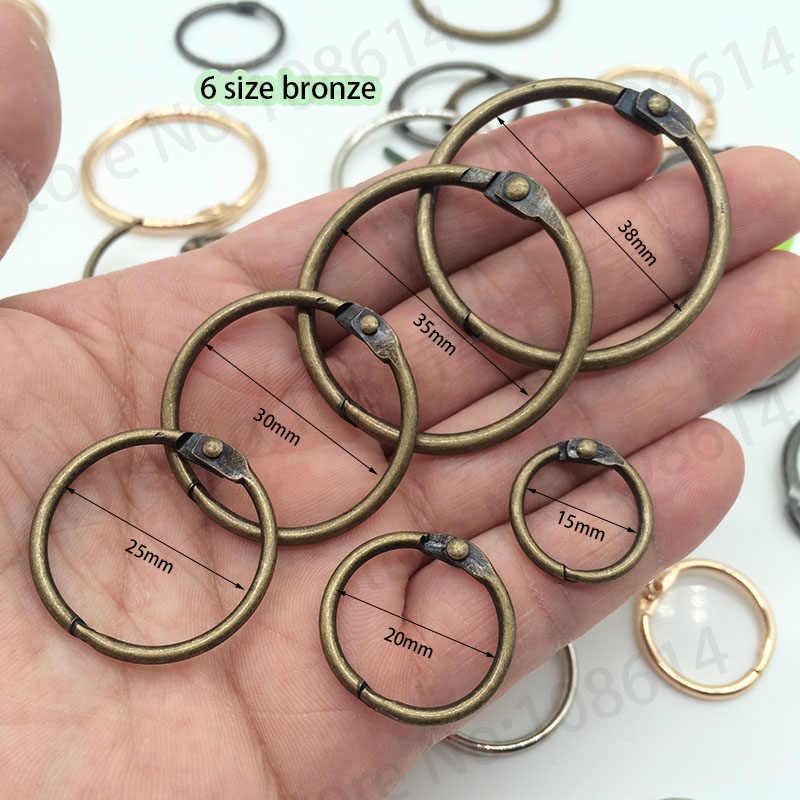 DIY วัสดุหลวมแหวนสำหรับหมวกตกแต่งหลวมวงกลมสำหรับเสื้อผ้าแฟชั่นวงแหวนสำหรับกระเป๋าหนังเสื้อผ้า