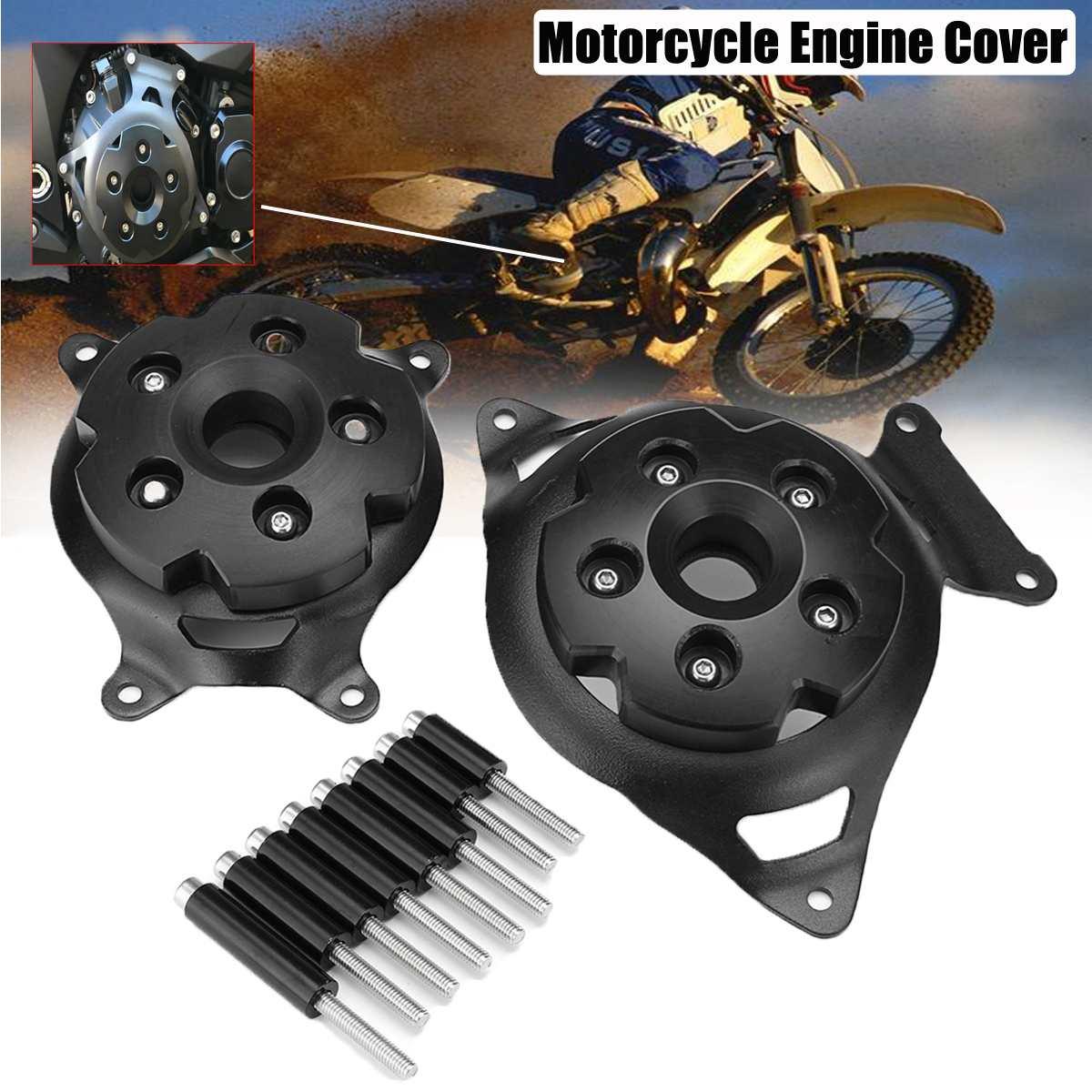 En aluminium moteur de moto Stator Du Couvercle Du Moteur Garde Protection Côté Bouclier Protecteur Pour Kawasaki Z750 Z800 2013-2016 13-16
