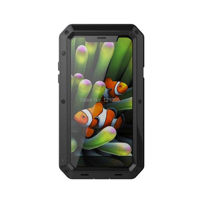 Boîtier de luxe en aluminium Doom Armor Life résistant à leau pour IPhone XS max XR X 8 7 6S 6 5S 11 Pro couverture complète 360 antichoc