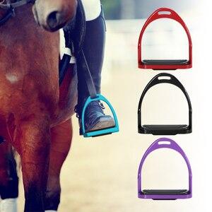 Image 1 - Étriers déquitation Flex selle de cheval en aluminium anti dérapant pédale de cheval équipement de sécurité équestre