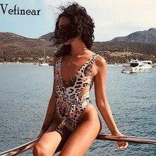 Vefinear 2019 Pattern Leopard Print Sexy Bandage Jumpsuits Club BeachWear Romper