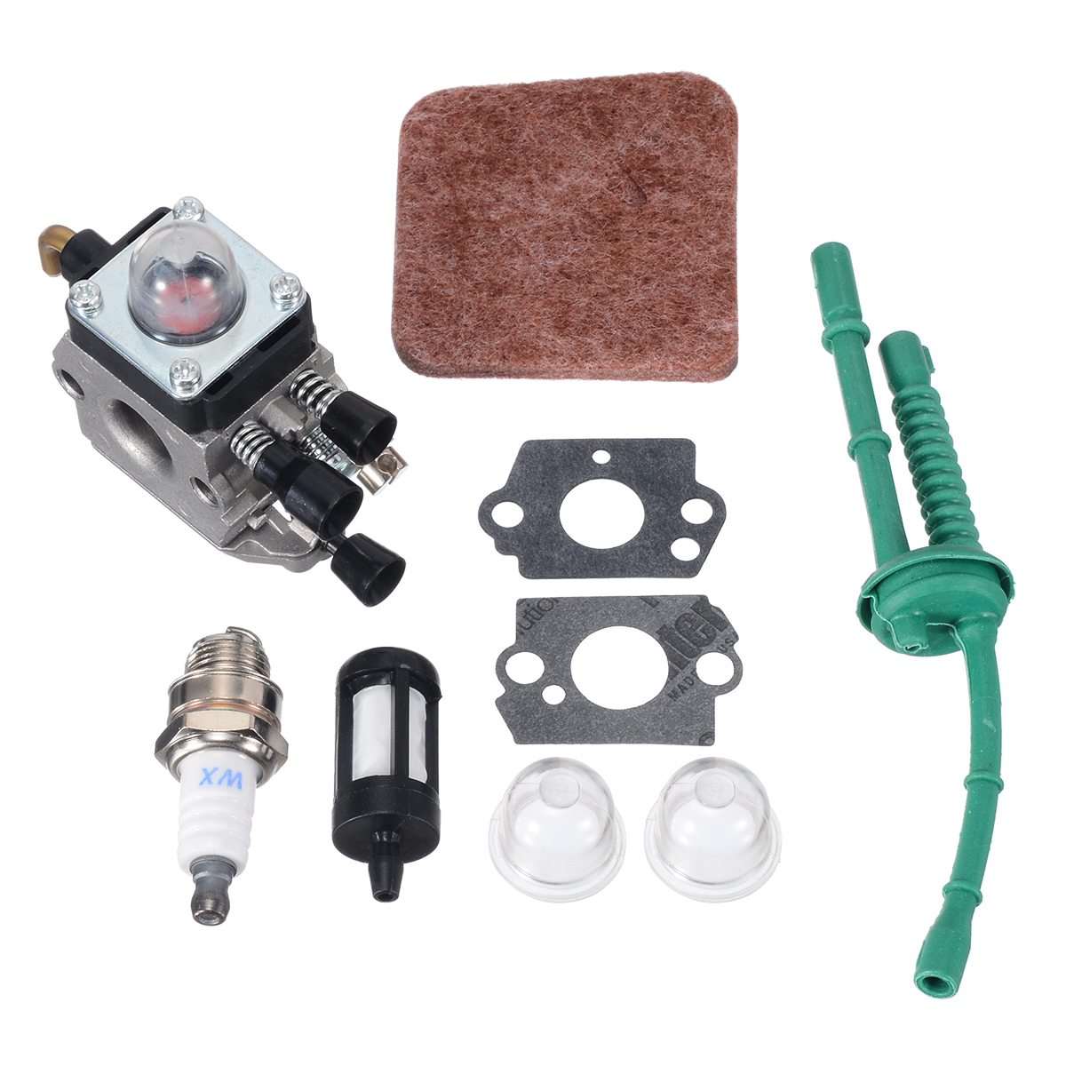 High Quality Carburetor Kit for FS38 FS45 FS46 FS55 KM55 FS85 Air Fuel Filter Gasket Carb 1 set for Power Tool PartsHigh Quality Carburetor Kit for FS38 FS45 FS46 FS55 KM55 FS85 Air Fuel Filter Gasket Carb 1 set for Power Tool Parts
