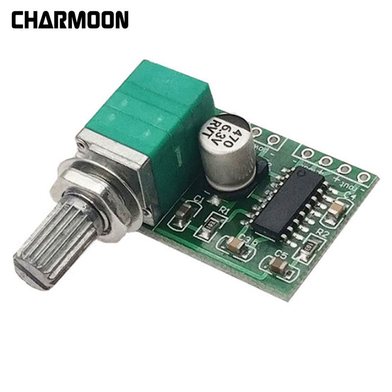 Ingenious New Pam8403 5v Power Audio Amplifier Board 2 Channel 3w W Volume Control/ Usb Power Free Shipping