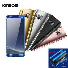 KINBOM 360 Degree Plating Mirror Cases For Samsung Galaxy S10 Lite Full Cover S10Plus Protective Case