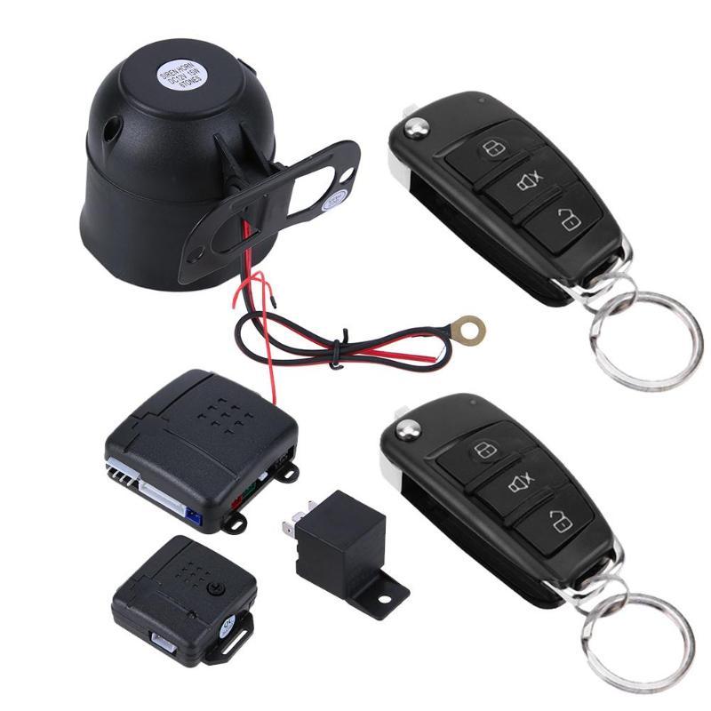 Système de sécurité automatique de sirène d'entrée sans clé de véhicules de dispositif de Protection d'alarme de cambrioleur de voiture avec 2 télécommande