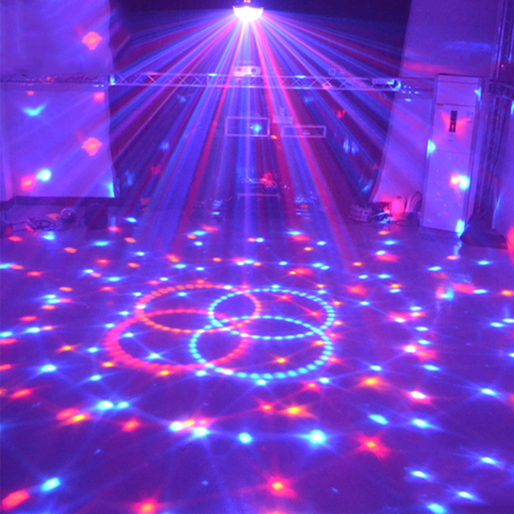 Stage Lamp Led Disco Ball Light Laser 9 Colors 27w 21 Modes