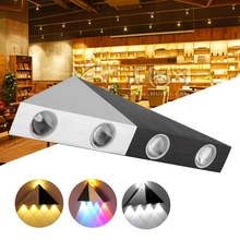 Modern AC85-265V 5W LED Wall Light Triangle Sconce Lamp for Home Bedroom Bar Cafe Restaurant wall lamp modern magic bean double head wall lamp ceiling hanging wall light corridor lights edison wall sconce lamps for cafe restaurant