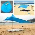 3 4 человек пляжный навес от солнца UPF50 УФ защита солнцезащитный тент брезент