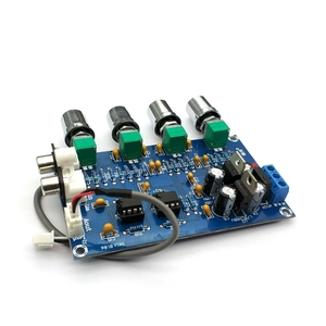 Image 4 - NE5532 Stereo Pre amp Preamplifier Tone Board Audio 4 Channels Amplifier Module 4CH CH Control Circuit Telephone Preamp