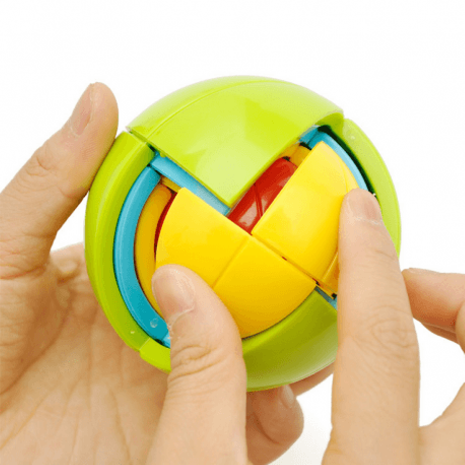 3D Puzzle Ball Magic Intellect Puzzle Maze Ball Brain Teaser Game Educations Funny Ball Shape Puzzle for IQ Training Logical Toy circle