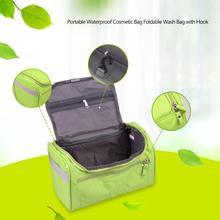 Купить с кэшбэком Portable Waterproof Cosmetic Bags Multifunction wash bag Women Makeup portable Bag toiletry Storage waterproof Travel Bags