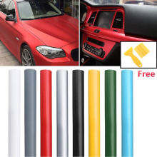 цена на 50x150cm Car Matte Film Sheet Body Sticker Decal Self Adhesive Wrapping Matte Flat Car Vinyl Film Wrap Matt Vinyl Car Wrapp Film
