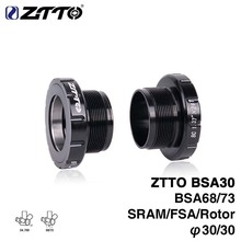 bike External Bearing Bottom Brackets ZTTO MTB Road BB for BB30/PF30/386 Crankset High Quality