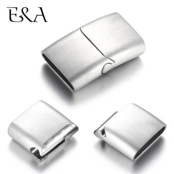 Stainless Steel Magnetic Clasps Brush Hole 16*5mm Leather Cord Connect Clasp Magnet Buckle Bracelet Making DIY Jewelry Findings stainless steel magnetic clasp hole 6mm leather cord clasps magnet buckle diy bracelet closure supplies jewelry making findings