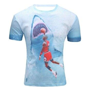 f72cb84d0a 2019nueva camiseta de los hombres de la manera 3d estampado estrella Jordan  Funk Shark lovely Tees camisetas de verano Tops y camisetas al por mayor ...