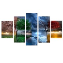 Four Seasons Trees Diy Diamond Painting Art 5D Picture Home Decor(China)