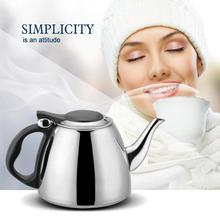 1.2L Kitchen Stainless Steel Water Kettle Handheld Instant Flat Bottom Water Kettle Induction Cooker Heating Boiling Tea Pot 1 2l 304 stainless steel high quality flat tea pot coffe drip kettle induction cooker water kettle hot water for barista
