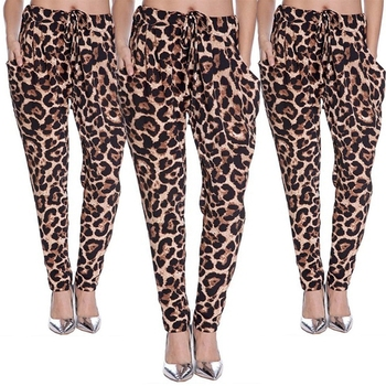 Womens Pants Leggings Ladies Animal Leopard Printed Full Length Trouser Ladies Casual Trousers Bottoms S M L XL XXL